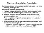 chemical coagulation flocculation