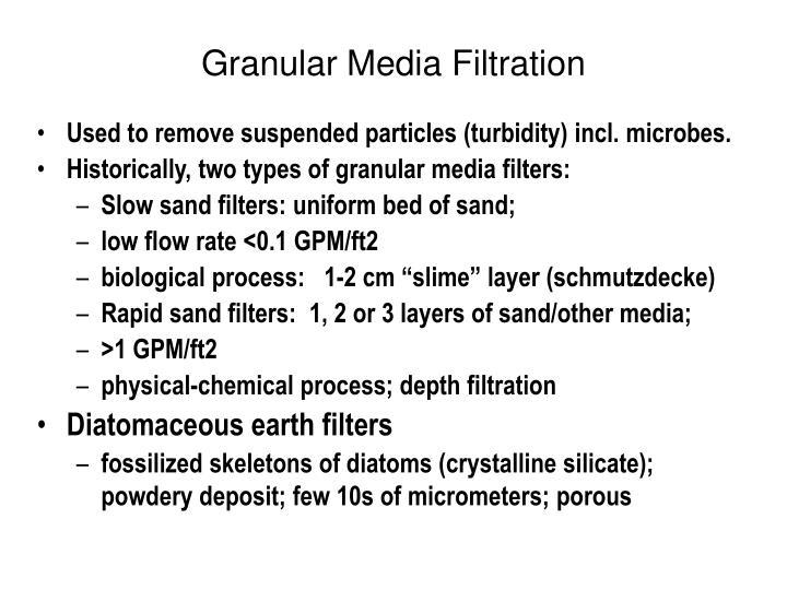 Granular Media Filtration
