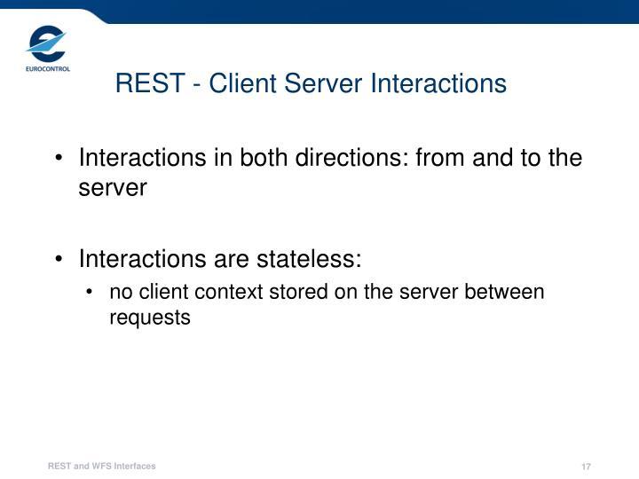 REST - Client Server Interactions