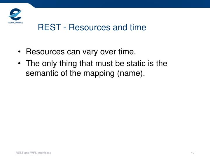 REST - Resources and time