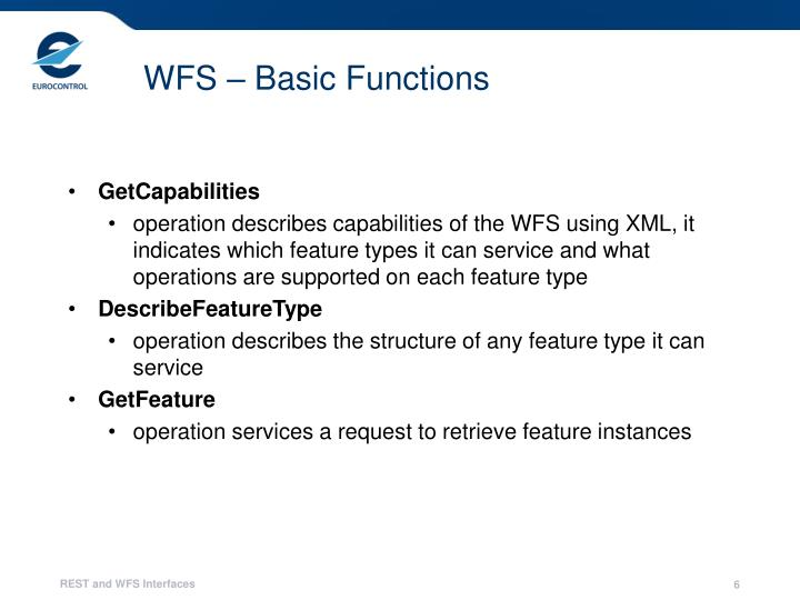 WFS – Basic Functions