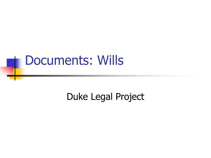 Documents wills