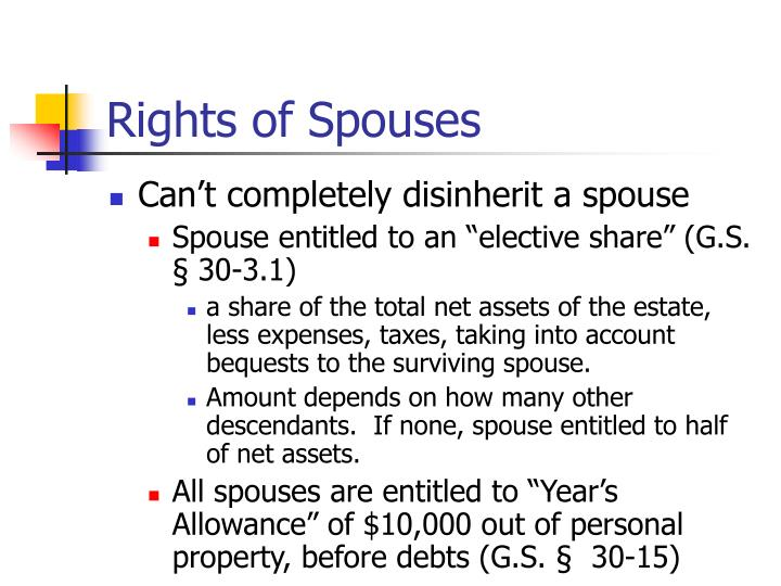 Rights of Spouses