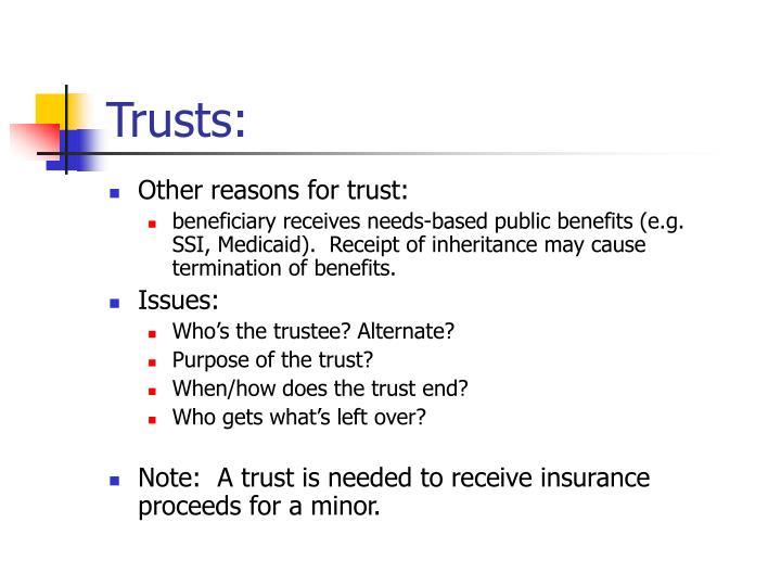 Trusts: