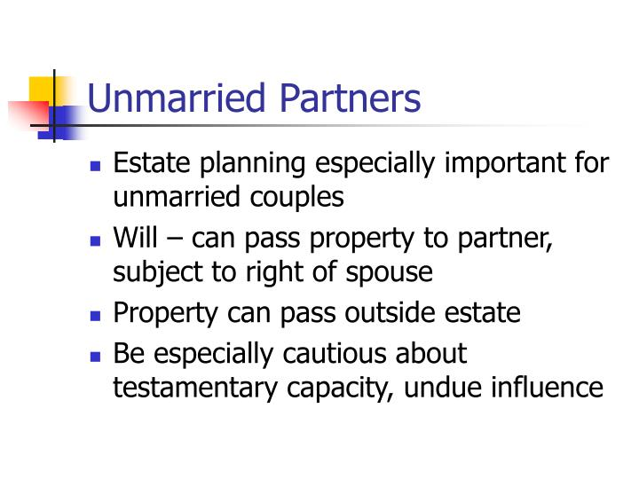 Unmarried Partners