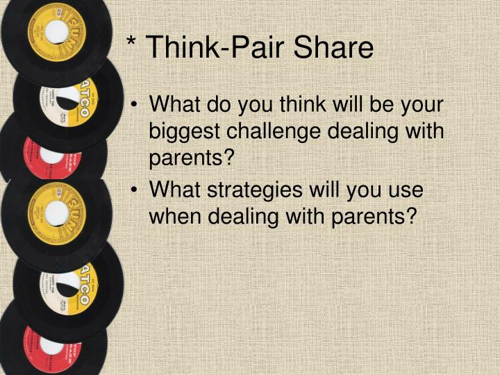 * Think-Pair Share