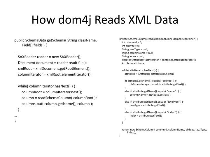 How dom4j Reads XML Data