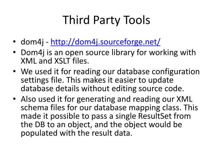 Third Party Tools