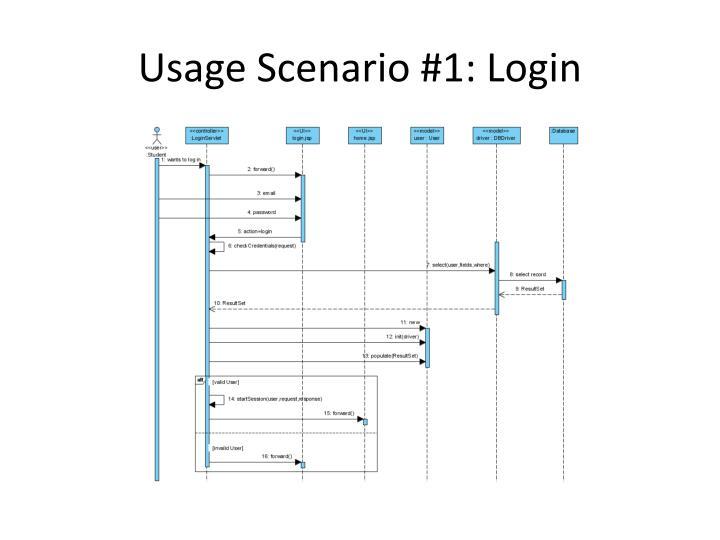 Usage Scenario #1: Login