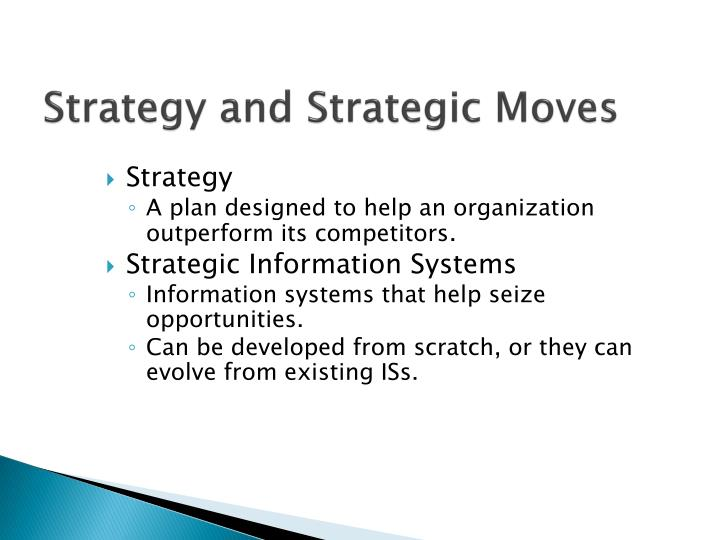 Strategy and Strategic Moves