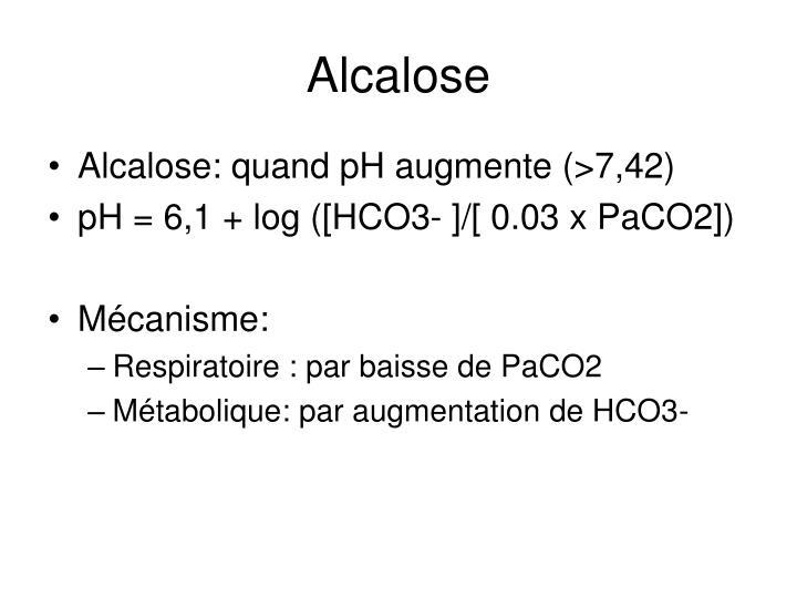 Alcalose