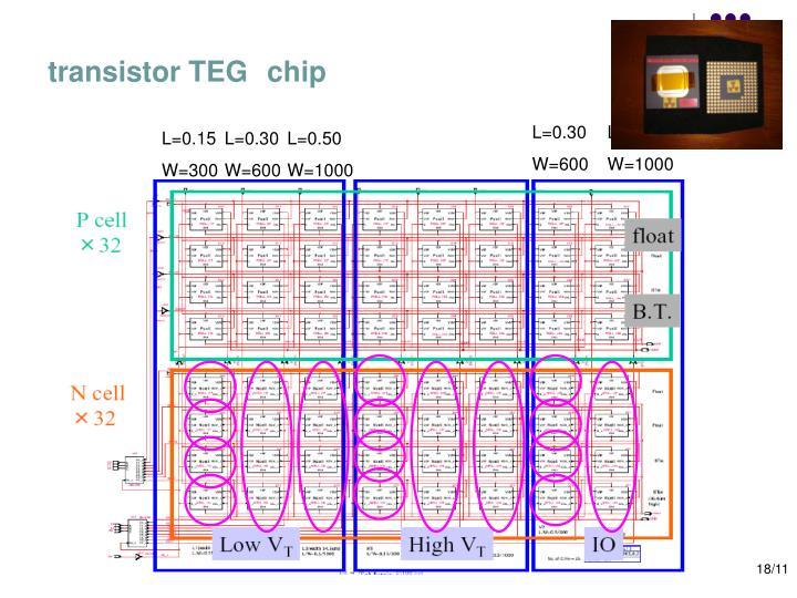 transistor TEG chip