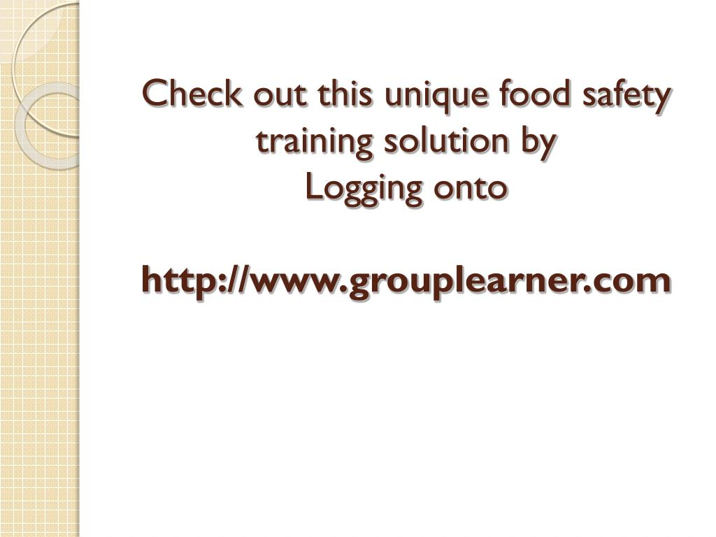 Check out this unique food safety training solution by