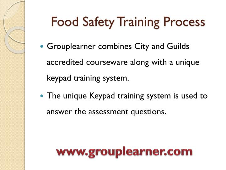 Food safety training process3