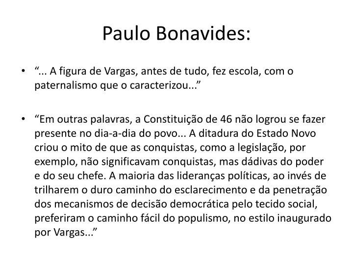 Paulo Bonavides: