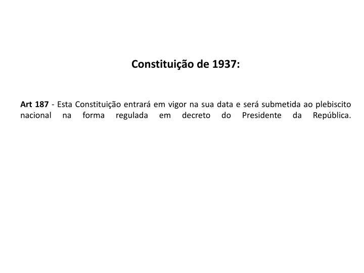 Constituição de 1937: