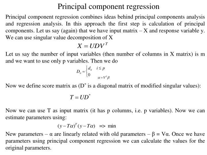 Principal component regression