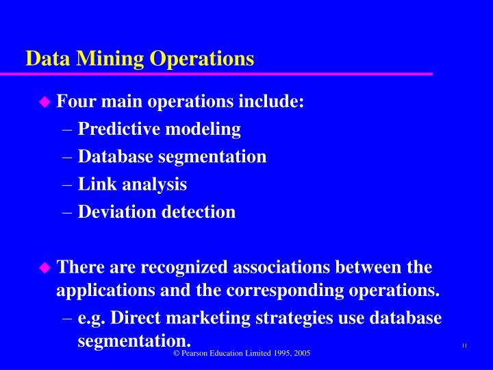 Data Mining Operations