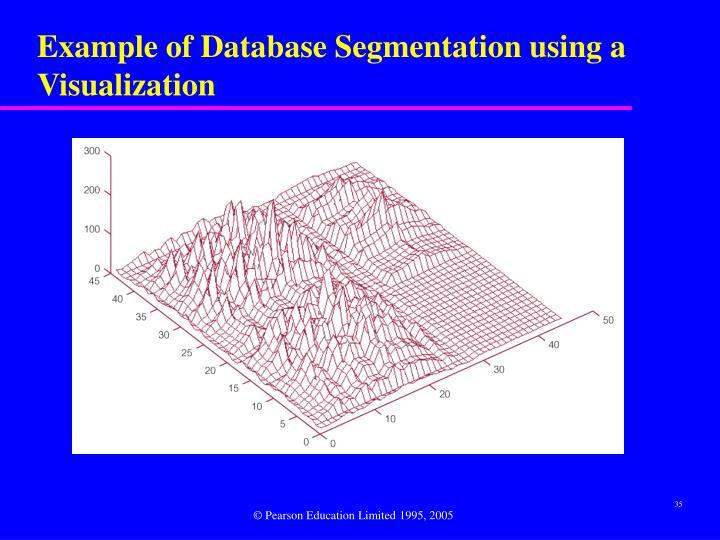 Example of Database Segmentation using a Visualization
