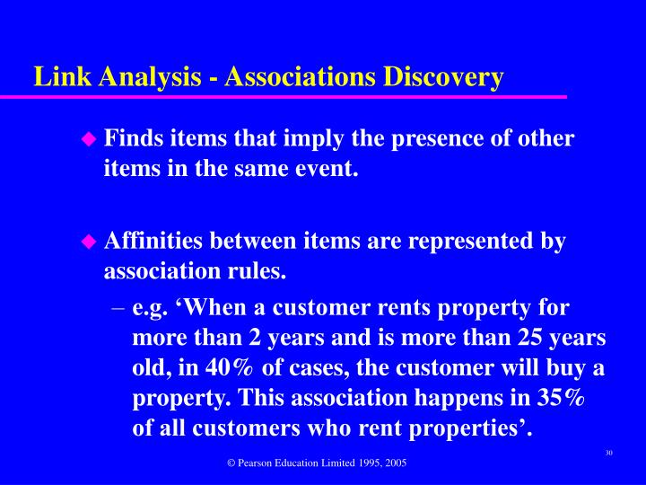 Link Analysis - Associations Discovery
