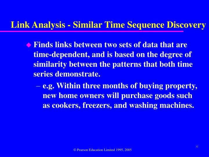 Link Analysis - Similar Time Sequence Discovery