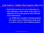 link analysis similar time sequence discovery