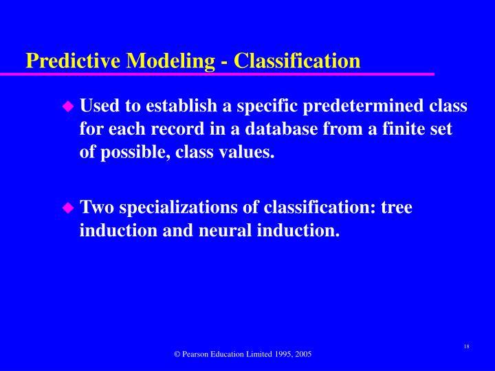 Predictive Modeling - Classification