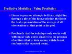 predictive modeling value prediction1