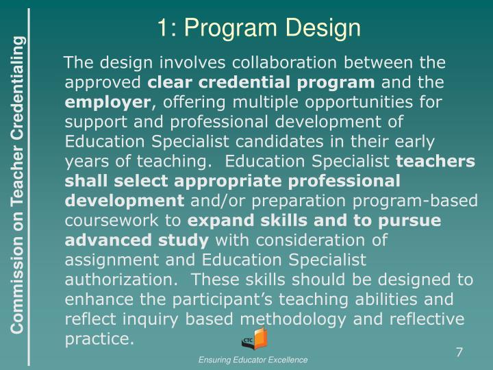 1: Program Design