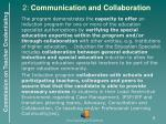 2 communication and collaboration