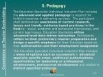 5 pedagogy