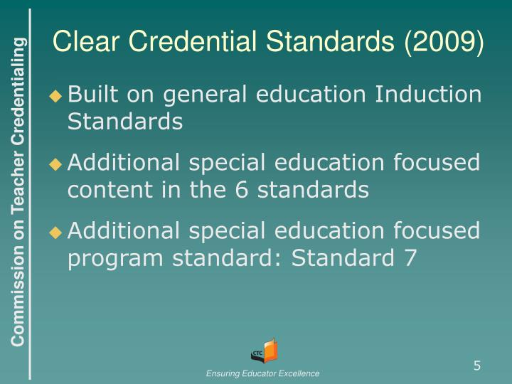 Clear Credential Standards (2009)