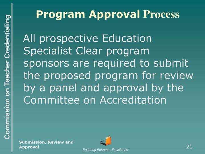 Program Approval