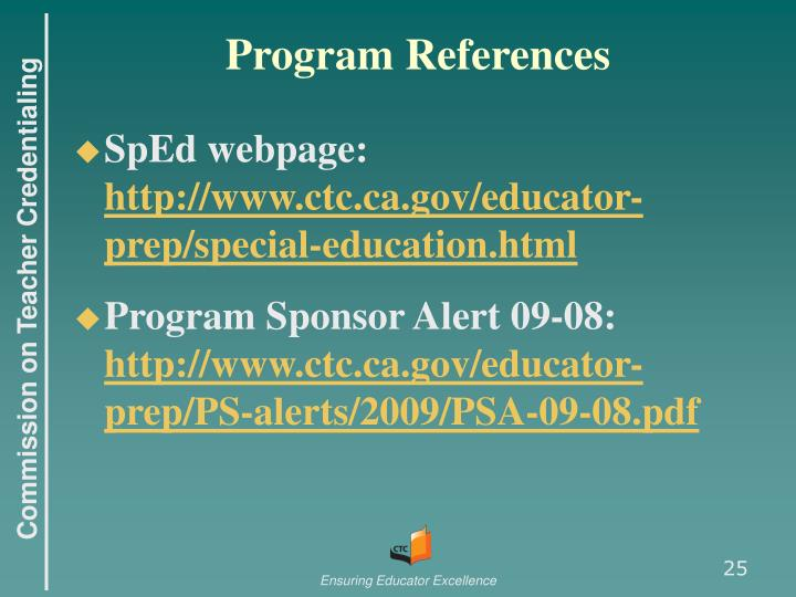 Program References