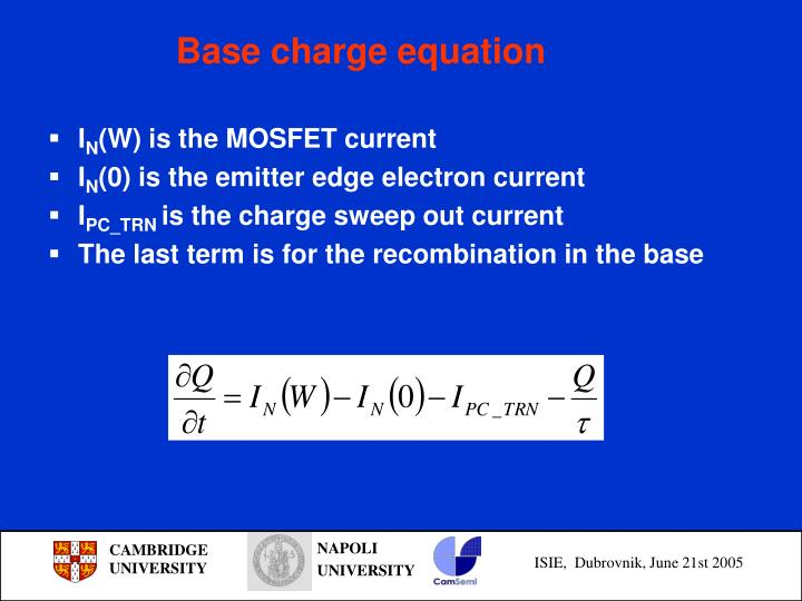 Base charge equation