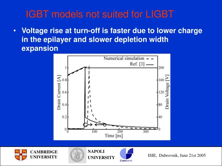 IGBT models not suited for LIGBT