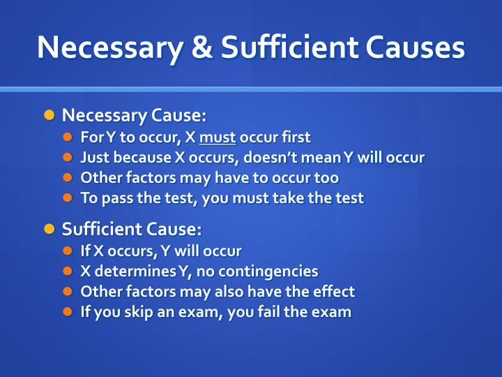 Necessary & Sufficient Causes