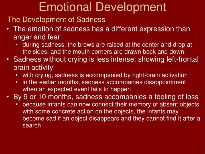 The Development of Sadness