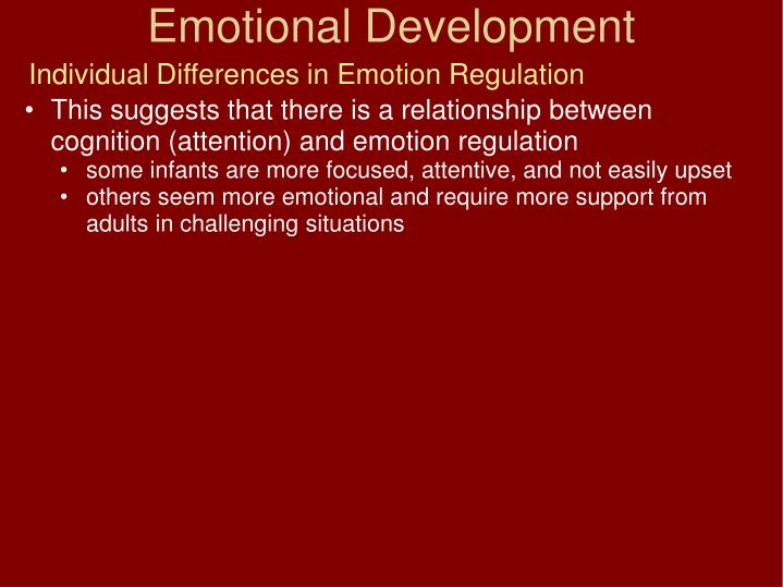 Individual Differences in Emotion Regulation