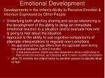 emotional development31