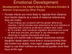 emotional development32