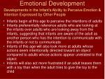 emotional development33