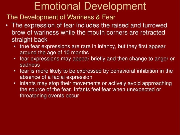 The Development of Wariness & Fear