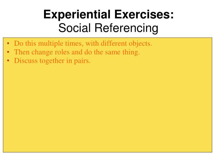 Experiential Exercises: