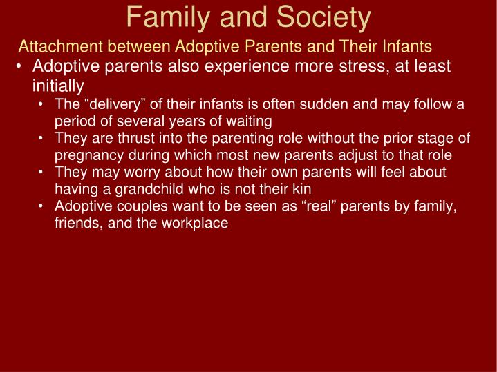 Attachment between Adoptive Parents and Their Infants