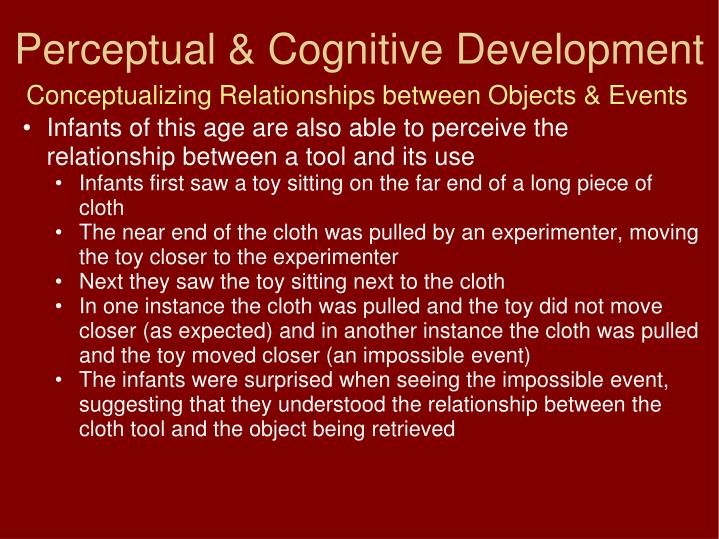 Conceptualizing Relationships between Objects & Events