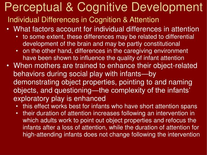 Individual Differences in Cognition & Attention