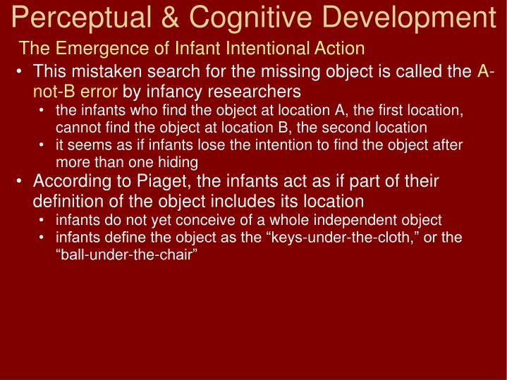 The Emergence of Infant Intentional Action