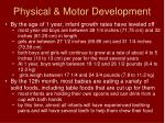 physical motor development