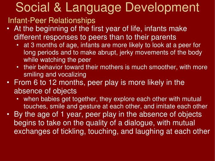 Infant-Peer Relationships